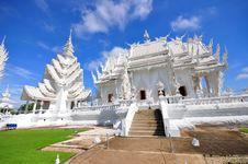 Main Chapel Of Wat Rong Khun Temple Royalty Free Stock Photo