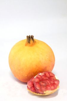 Free Pomegranate Fruits Yellow. Royalty Free Stock Images - 16437079