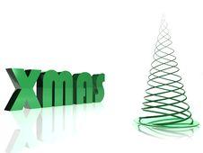 Abstract Green Christmas Tree Stock Photo