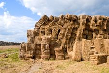 Free Haystacks Bales In Countryside Royalty Free Stock Photography - 16437727