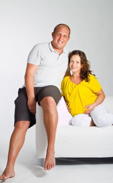Free Young Happy Pregnant Couple Stock Photo - 16438220