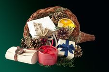 Free Cornucopia With Gifts 2 Stock Photography - 16438362