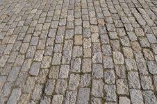 Stone Block Pavement Background Stock Image