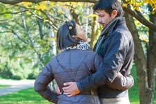 Romantic Young Beautiful Couple Royalty Free Stock Photo