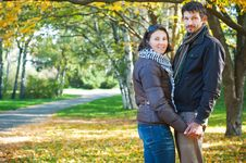 Romantic Young Beautiful Couple Royalty Free Stock Images