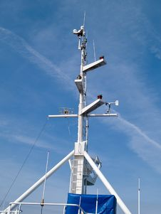 Free Ship Boat Bridge Communication Mast Stock Images - 16440044