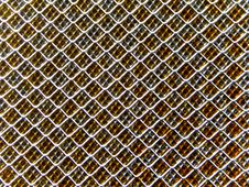 Rolled Steel Fence Stock Photo