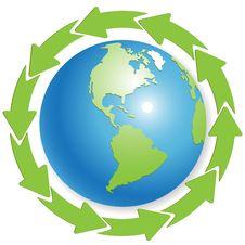 Free Globe And Green Arrows Stock Photos - 16440373