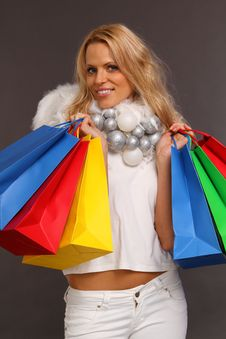 Free Christmas Shopping Stock Photography - 16440412
