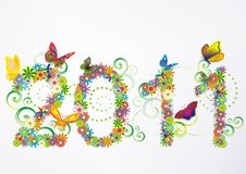 2011 Floral Background Stock Photo