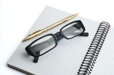 Free Organizer, Glasses And Pen Stock Photo - 16440870