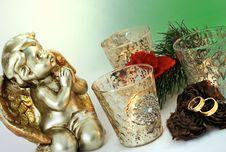 Free Christmas Wedding Invitation/rings Royalty Free Stock Photo - 16441895