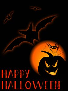 Halloween Poster. Royalty Free Stock Image