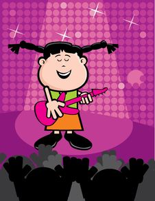 Free Elisa Playing Guitar Royalty Free Stock Photo - 16442125