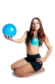 Gymnast With The Ball Stock Photography
