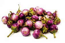Free Group Of Small Egg-plants. Royalty Free Stock Images - 16442419