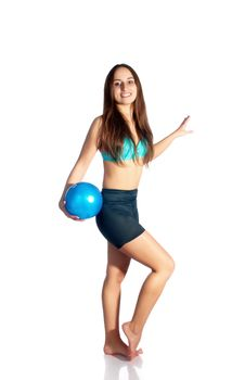 Gymnast With The Ball Stock Photo