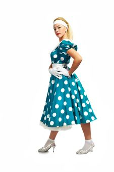 Free Lady In A Polka Dot Dress Stock Photos - 16442583