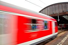 Free Train Leaves The Station Stock Image - 16442611