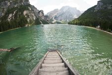 Braies Lake, Italy Royalty Free Stock Photos