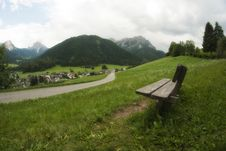 Free Bench On Dolomites, Italy Stock Photography - 16443022