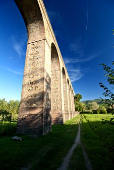 Ancient Aqueduct In Lucca, Italy Royalty Free Stock Photos