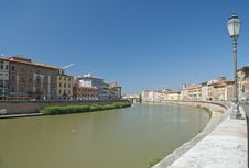 Lungarni In Pisa, Italy Royalty Free Stock Photos