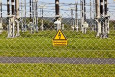 Free Electrical Power Plant In Farmland Area Stock Images - 16443314