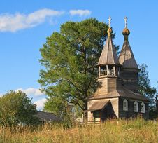 Old Wooden Chapel In North Russia Royalty Free Stock Images