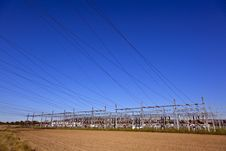 Free Electrical Power Plant In Farmland Area Royalty Free Stock Photos - 16443508