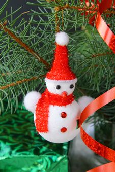 Christmas Tree With Christmas Decorations Stock Images