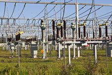 Free Electrical Power Plant In Farmland Area Stock Photos - 16443523