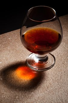 Free Glass Of Brandy Royalty Free Stock Photography - 16443697