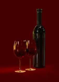 Free Red Wine In Glasses Stock Image - 16444111