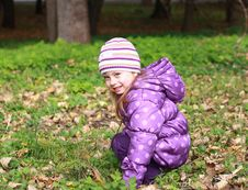 Free Little Girl In The Park Stock Images - 16444954