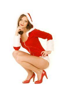 Free Christmas Girl Royalty Free Stock Photo - 16445395