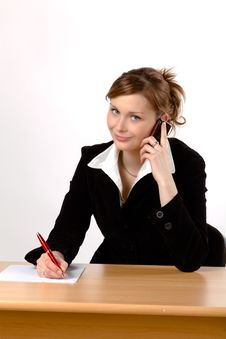 Free Businesswoman Working At A Desk Royalty Free Stock Images - 16446509
