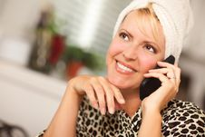 Free Attractive Caucasian Woman Talking On Cell Phone Royalty Free Stock Photo - 16446605