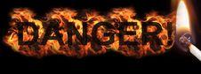 Free Burning Hot Danger Sign Royalty Free Stock Image - 16447256