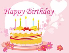 Free Birthday Card Stock Photos - 16447533