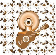 Free Brown Guitar Royalty Free Stock Photos - 16448168