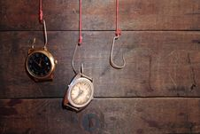 Time On The Hook Royalty Free Stock Images