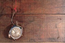 Old Watch On The Hook Stock Photos
