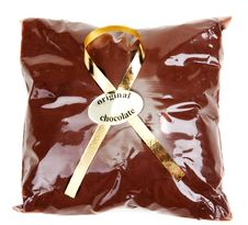 Free Chocolate Powder In Gift Package And Golden Tape Royalty Free Stock Photography - 16448577