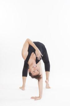 Asian Yoga Training Master Royalty Free Stock Image