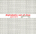 Free Alphabet Dice. Part 2 Of 4 Stock Photography - 16451302