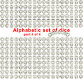 Free Alphabet Dice. Part 4 Of 4 Royalty Free Stock Images - 16451349