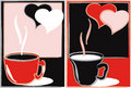 Free Abstraction-banners With Cups Of Tea Royalty Free Stock Images - 16454349