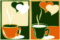 Free Abstraction-banners With Cups Of Tea Royalty Free Stock Images - 16454369
