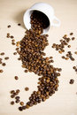Free Coffe Cup With Coffe Beans Stock Photos - 16458383